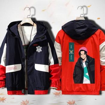 Unisex Anime Cosplay ONE PIECE Luffy Roronoa Zoro Nami Usopp Sanji Trafalgar Law Zipper Cardigan Hooded Jacket Coat