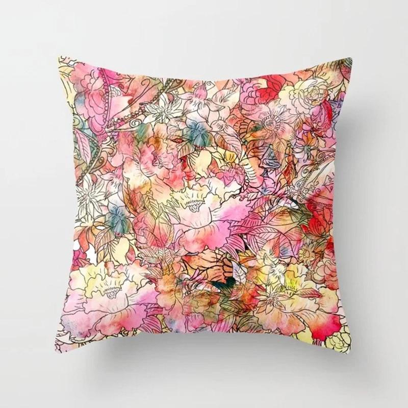 H843a6105d442428d9e9df78c5eef1e95M New 1PC Popular Cushion Case Geometric Tropic Pineapple Nordic Sofa Pink Pillow Decorative