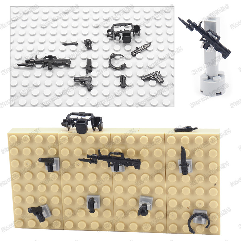 Zweiter Weltkrieg Militär Soldaten Set Waffen Mini Armee Figuren Lego kompatibel