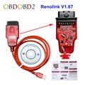 Новейший Renolink V1.87 Reno link 1,87 для Renault ECU Программатор, кодирование ключей UCH, подходящая сброс кодирования приборной панели