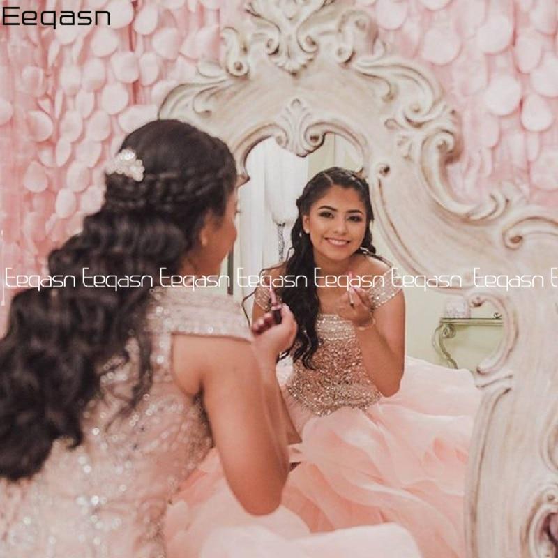 New Quinceanera Dresses Sweet 16 Dress Ruffles Skirt Long Teen Girls Pageant Dress 2020 Crystal Vestidos de 15 anos