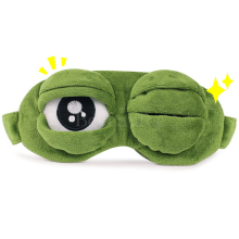 Reusable Blindfold Mask for Sleeping Animals Sad Frog Cute 3D Sleep Vacation Rest Travel Eye Patches Anime Cosplay