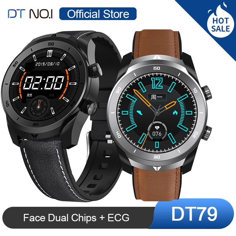 DT NO.1 DT79 Smart Watch 360 Pixels Wristband ECG Heart Rate O2 Monitor Bluetooth Call Smartwatch Business Sports Men Women