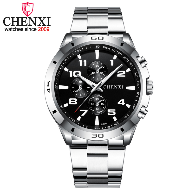 CHENXI Brand Top Original Men Watches Fashion Casual Business Male Wristwatch Stainless Steel Quartz Man Watch Relogio Masculino