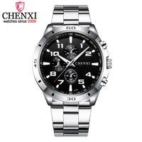 Chenxi 브랜드 최고 원래 남자 시계 패션 캐주얼 비즈니스 남성 손목 시계 스테인레스 스틸 쿼츠 남자 시계 relogio masculino