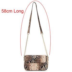 Image 5 - Bolso cruzado con estampado de serpiente para mujer, bandolera femenina de plata 2020, pequeño bolso de mano de cuero PU, cruzado Vintage