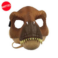 Original Mattel Jurassic World 2 Dinosaur Partysaurus Rex Realistic Mask Cosplay Props Halloween Costumes Toy for kids Adults