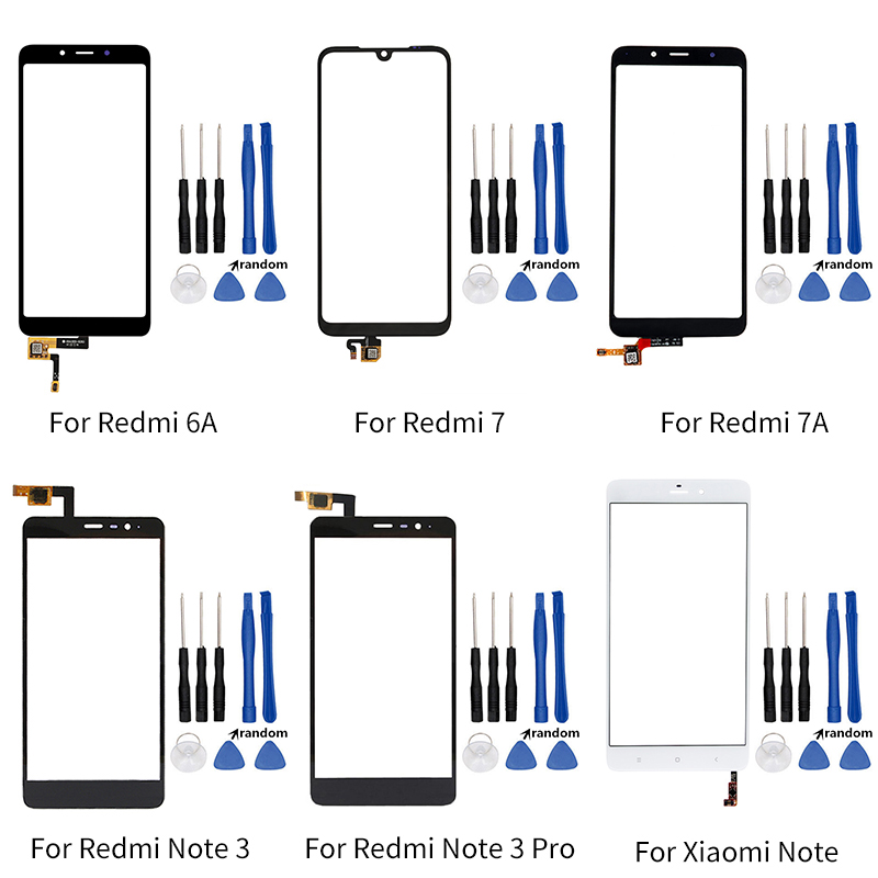 Touch Screen For Xiaomi Redmi 6A 7 7A Note 3 Pro Mi Note Touch Screen Digitizer Front Touch Panel Replacement Part + Tools-in Mobile Phone Touch Panel from Cellphones & Telecommunications