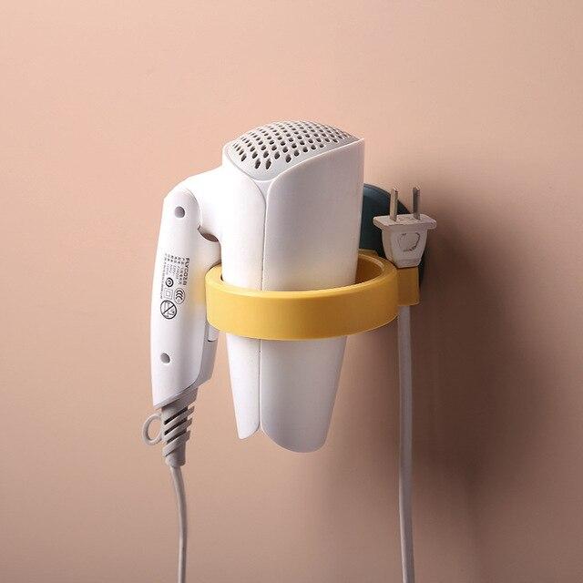 Ménage sèche-cheveux support toilette support de rangement salle de bain mural conduit dair étagère stockage toilette trou gratuit sèche-cheveux support
