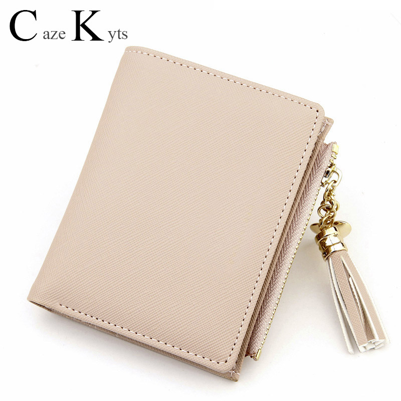 New Hot Ladies Casual Simple Fashion Leather Wallet Tassel Love Decoration Cute Multi-function Wallet Free Shipping Credit Card