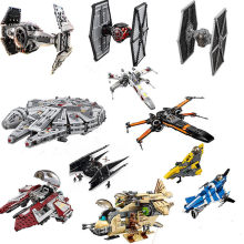 Star Wars Spaceship Microfighters Millennium AT-ST Fighters Building Blocks Bricks Toys With Legoinglys(China)