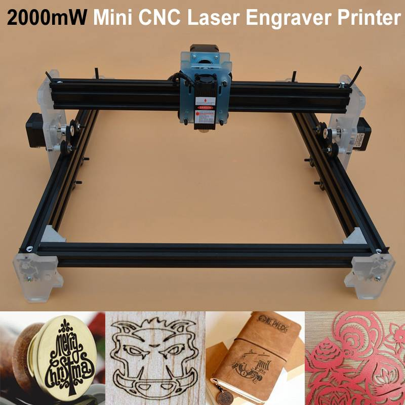 2000mW DIY Laser Engraver Machine Mini CNC Laser Cutting Engraving Machine Metal Wood Router Mini Marking Machine Advanced Toys
