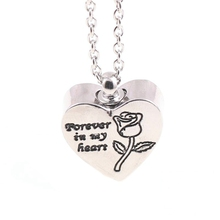 Forever In My Heart Cremation Rose Urn Necklace For Ashes For Women Urn Jewelry Memorial Pendant Gift stainless steel cremation jewelry angel wings pendant memorial urn necklace