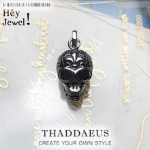 Esqueleto de calavera colgante, 2019 joyería de moda de invierno bisutería Europea accesorios de Plata de Ley 925 regalo para mujer hombre rebelde