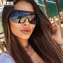 HBK Trend Semi Rimless One Piece Sunglasses