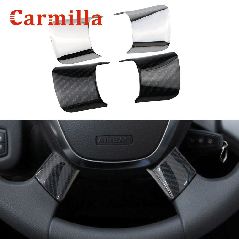 Car ABS Chrome Trim Handbrake Paillette//ST Decoration Stickers Case for Fiesta for Ecosport Auto Accessories Silver
