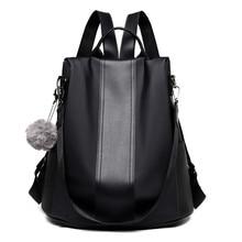 Women Backpacks Purse Mochila Shoulder-Bag Anti-Theft-Rucksack Teenagers Nylon Waterproof