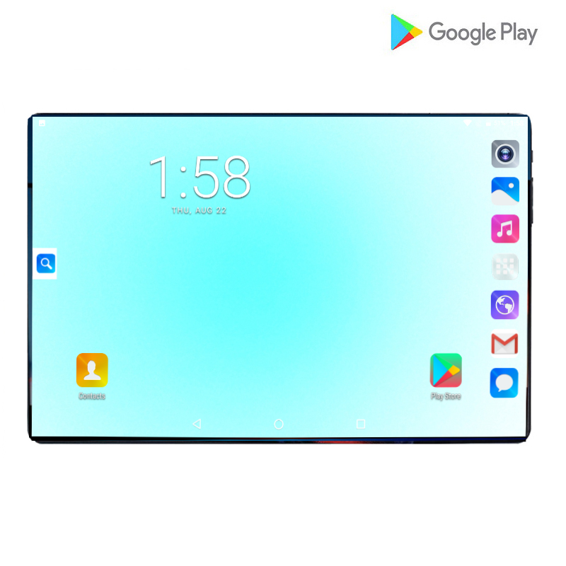 2019 New Mobile Phone Tablets 6G RAM 64G ROM MTK8752 Octa Core 10.1 Inch  2.5D IPS Screen 8.0MP Android 9.0 Smartpad Dual Camera
