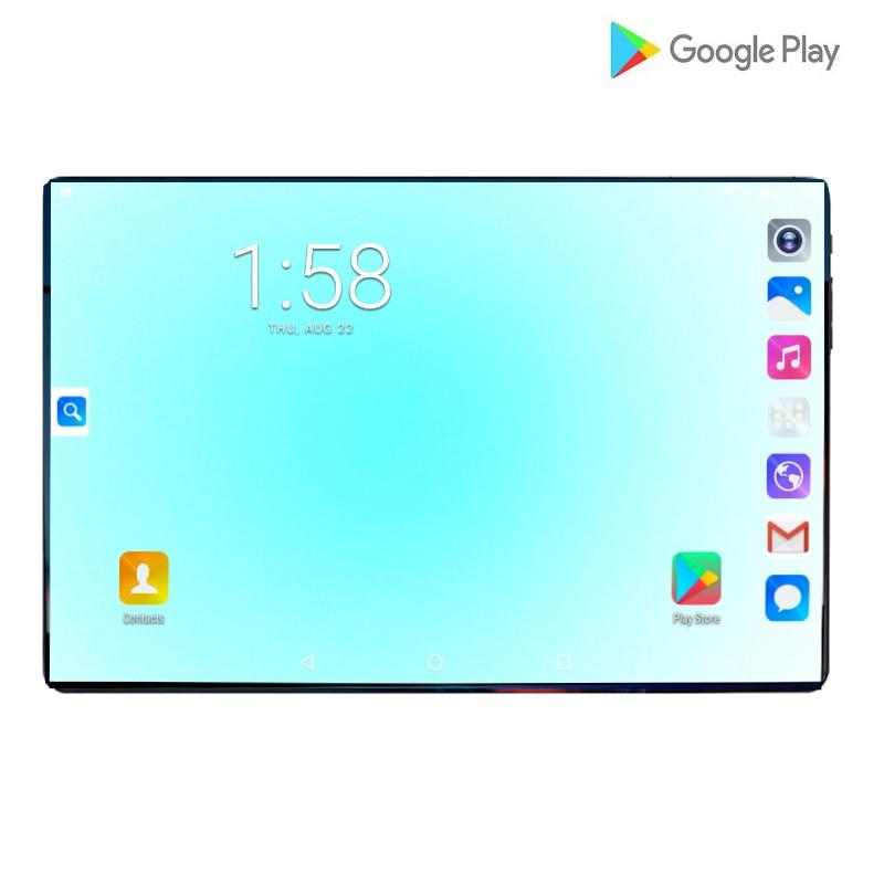 2019 nouvelles tablettes de téléphone portable 6G RAM 64G ROM MTK8752 Octa core 10.1 pouces 2.5D IPS écran 8.0MP Android 9.0 Smartpad double caméra