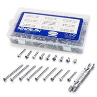1132Pcs/set 304 Stainless Steel Screw Set M3.5 Flat Pan Head Self tapping Screw Philips Screws Assortment Kit Wood Screws