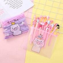 20pcs/set Korea pink girl heart set pen student cute cartoon creative gel kawaii School stationery