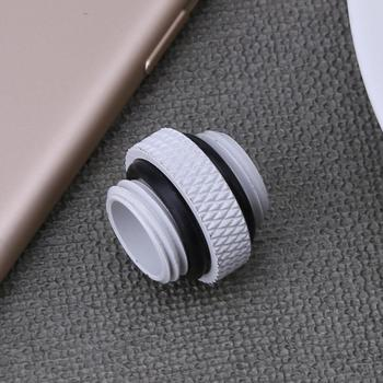 G1/4 Dual External Thread Hose Connector for PC Water Cooling System 18MM White Black Fan Cooling Computer Components image