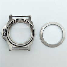 44mm Stainless Steel Brushed Watch Case for ETA6497/ 6498 For ST3600/ ST3620 Watch Movement Back Case Cover with PAM