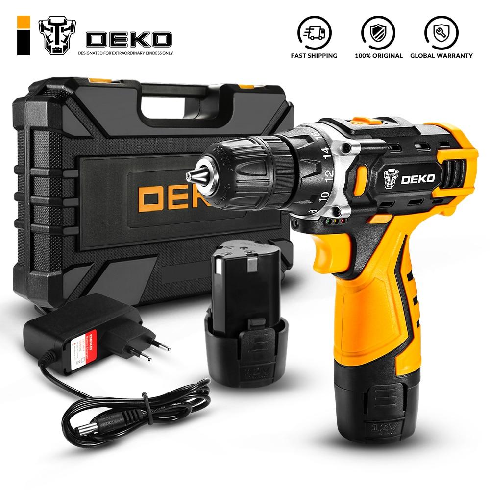 DEKO New Series 12V 16V 20V Cordless Drill Screwdriver Mini Wireless Power Driver 18+1 Torque Settings Lithium Ion Battery|Electric Drills| - AliExpress