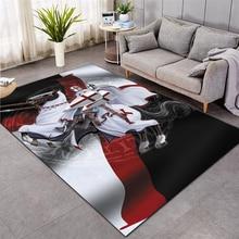 Knights Templar  cavalier Carpet Soft Flannel 3D Print Rug Parlor Mat Area Rug Anti-slip Large Carpet Rug Living Room Decor 008