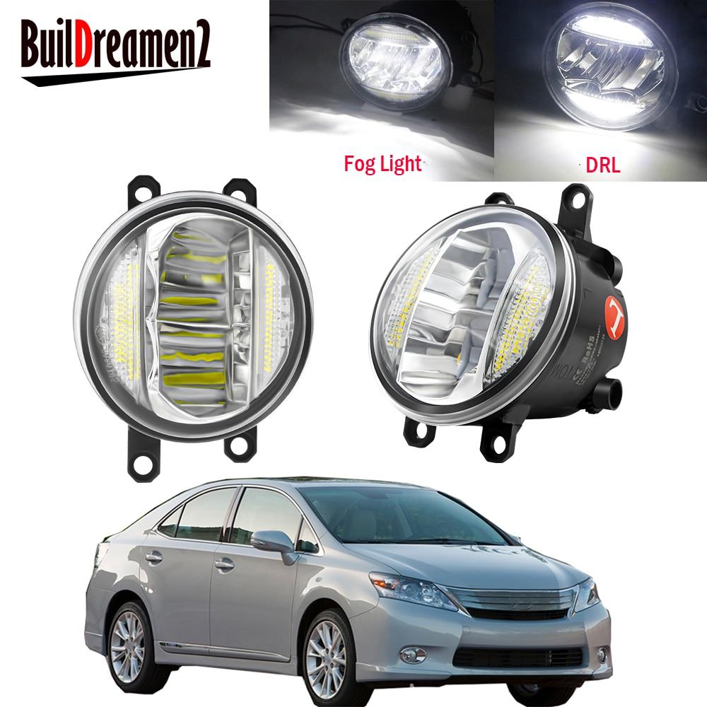 2in1 araba sürücüsü + yolcu LED sis işık meclisi gündüz farı DRL 30W 8000LM 12V Lexus HS250h 2010 2011 2012