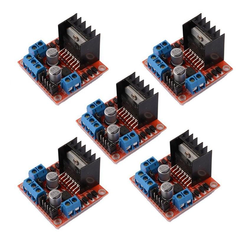 5 PCS L298N Motor Drive Controller Board DC Dual H-Bridge Robot Stepper Control and Drives Module for Arduino Smart Car Po