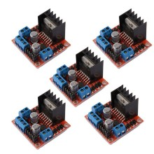 5 PCS L298N Motor Drive Controller Board DC Dual H-Bridge Robot Stepper Motor Control and Drives Module for Arduino Smart Car Po leadshine network drives dm3e 556 series ethercat stepper drives with coe and cia 402 protocols control stepper motor nema23 24