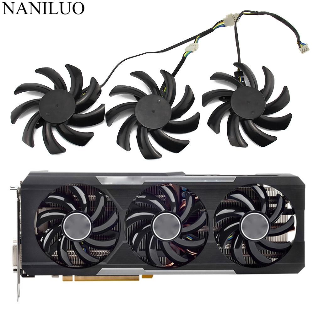85MM R9 290X/390/390X GPU VGA Cooler Fan For Sapphire R9-290X R9 390 8G NITRO R9 390X 8G D5 Tri-X Video Card Replacement