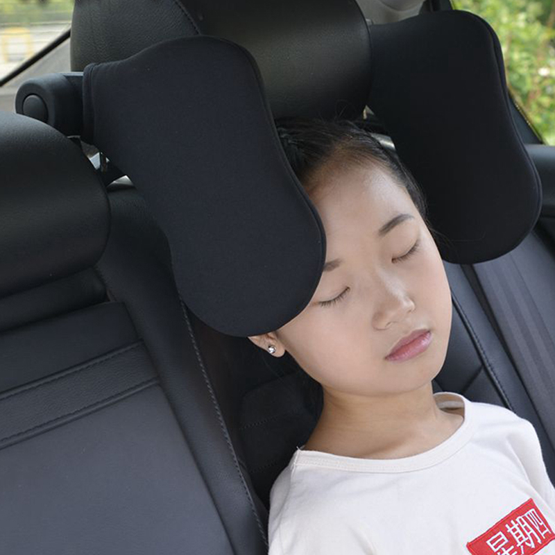 Car Seat Headrest Car Neck Pillow Sleep Both Side Head Support High Elastic Nylon Soft Comfortable Practical For Children Adults