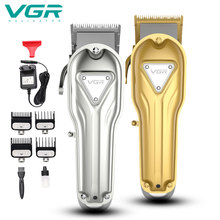 VGR 133 Neue Elektrische Haar-Clipper Professionelle High Power Haar Clipper Öl Kopf Elektrische Clipper Alle Gold oder Silber haar Trimmer(China)