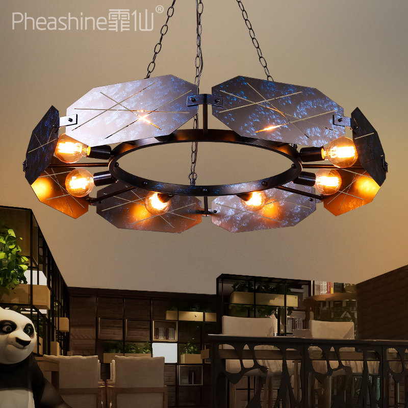 Industrial Style Living Room Dining Room Iron Chandelier Retro Retro Retro Internet Cafe Personality Creative Chandelier