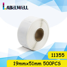 Labelwell 1Roll 500pcs 11355 etiqueta 19mm * 51mm envío labe compatible para Dymo LW 11352 LabelWriter 450 /450 Twin Turbo/4XL