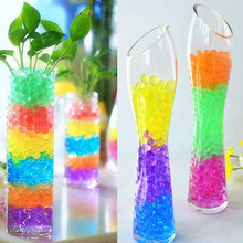 Crystal Soil Hydrogel Gel Polymer Water Beads Flower Wedding Decoration polymer Growing Water Balls Big Home Decor 100pcs/bag F(China)
