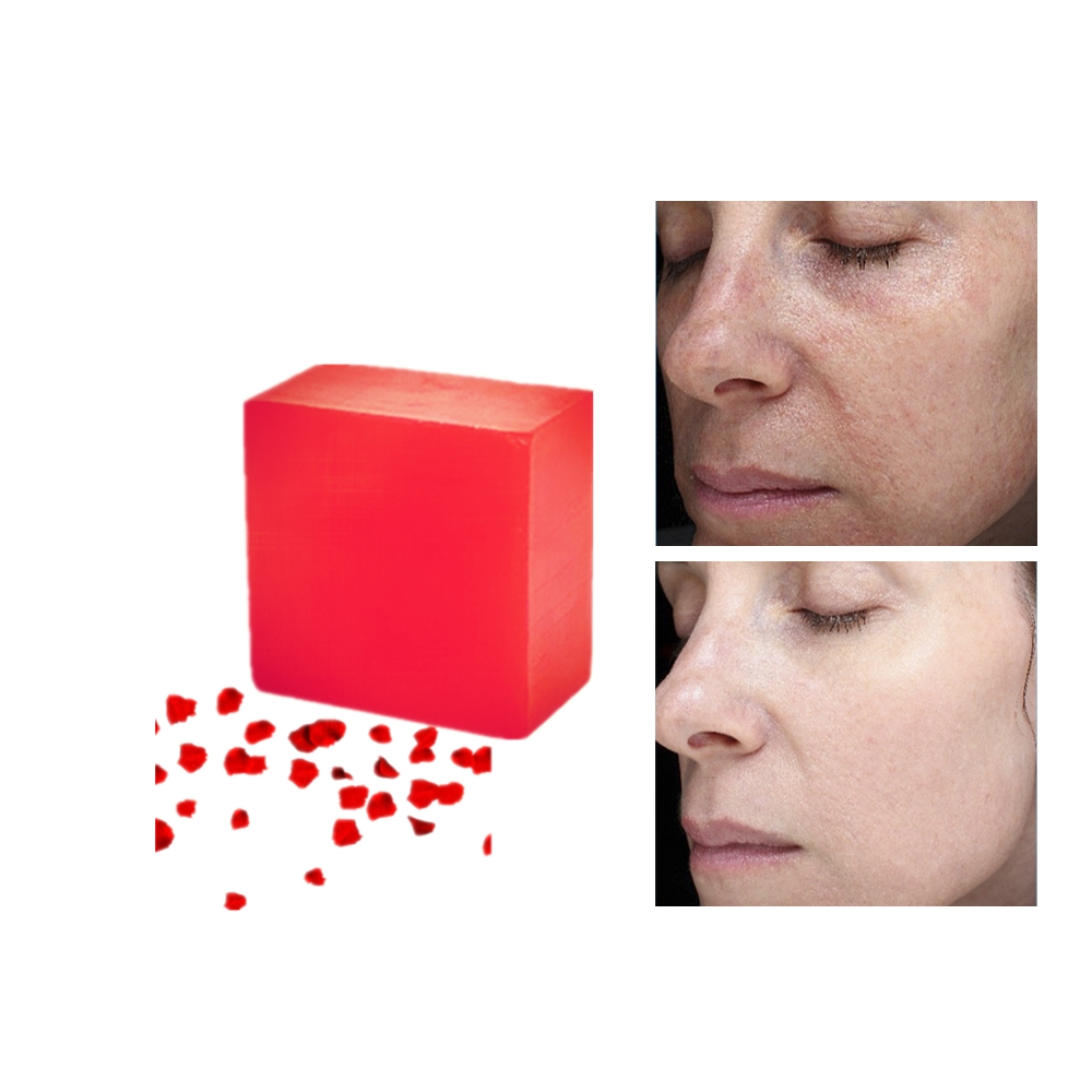 Lasting Moisturize After Face Washing Anti Allergy Nature Rose Deep Moisturizing Soaps Anti Wrinkle Whitening Rose Essence Soap