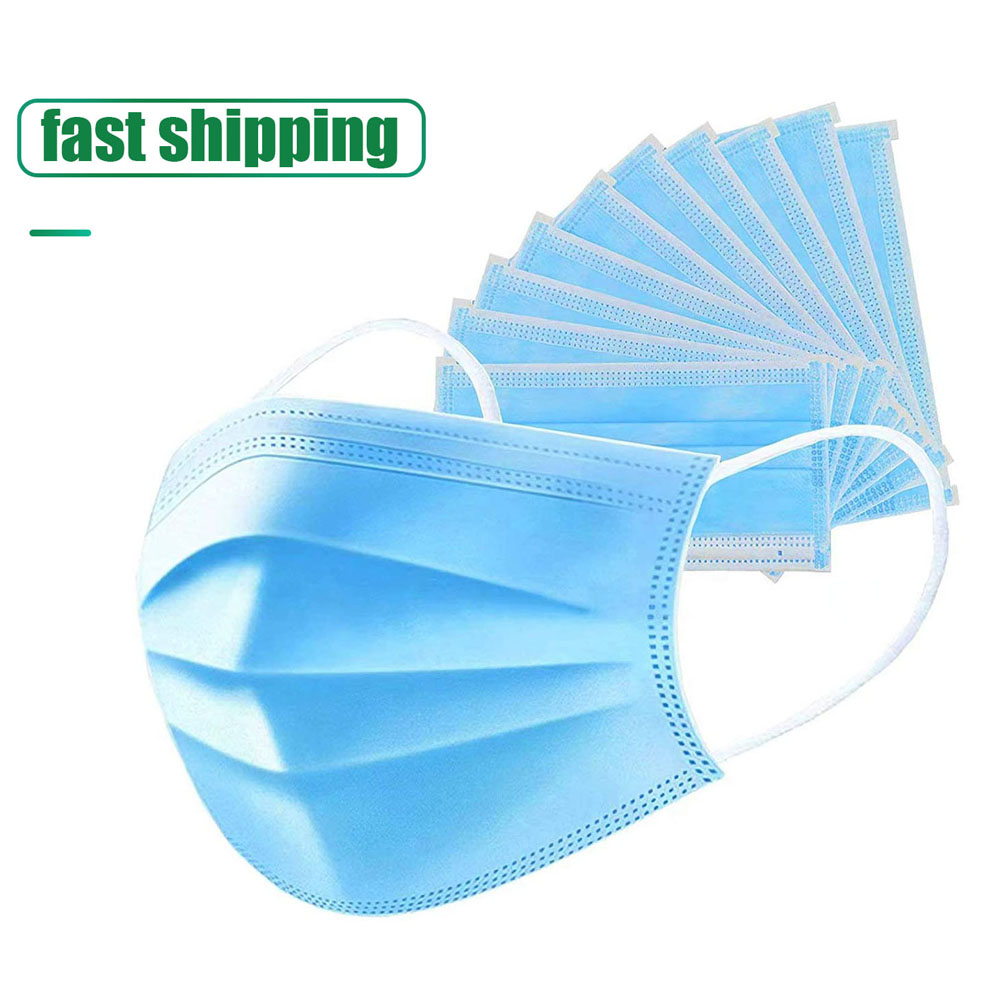 Mouth Masks Anti-dust Protective Face Mask Disposable Protection 3 Layers Mask Filter Ear Loop Non Woven Mouth Masks Disposable