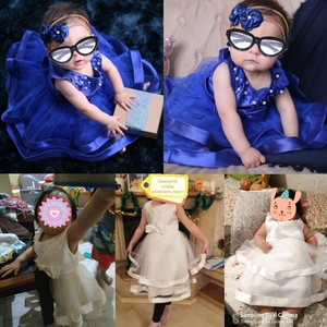Image 5 - Retail Children Girl Summer Dresses With Bow Kids Girl beaded Wedding Dress For Birthday 6 Colors Girl Clothes L5017