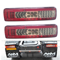1 Pair 24V Car Rear Tail Lights for Volvo Truck Trailer Without Buzzer