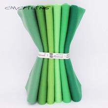 CMCYILING  25cmx28cm 6Pcs/Lot Patchwork Soft Felt Fabric For Needlework DIY Sewing Dolls Crafts  Green Series  Polyester Cloth