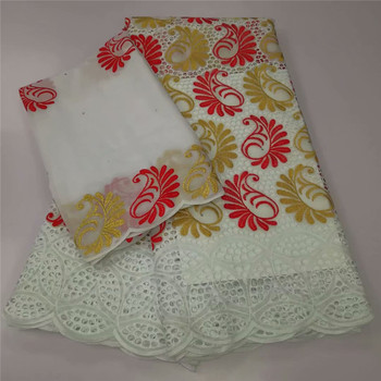 African Swiss Voile Lace Fabric High Quality 2020 Embroidery lace Dry cotton Lace Fabric 5 Yards Nigerian Lace Fabric y82-792