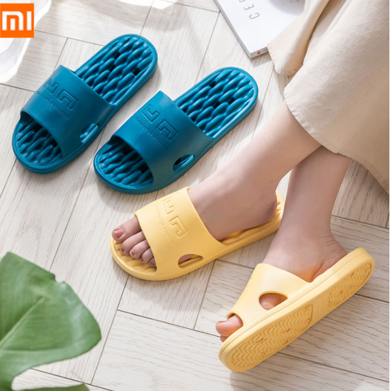 Xiaomi EVA Summer Men Slippers Women Non-slip Slides Bathroom Sandals Soft Flip Flops Massage Sole Home Indoor Floor Slipper
