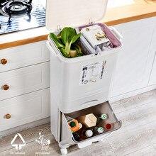 38/42l grande capacidade lata de lixo 2/3 camadas duplo deck lixo classificando escaninhos cozinha do agregado familiar restaurante lixo armazenamento bin
