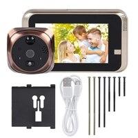 Video Peephole Doorbell, 720P 4.3Inch Hd Screen Wifi Smart Peephole Viewer Doorbell Waterproof Home Visible Intercom Doorphone N