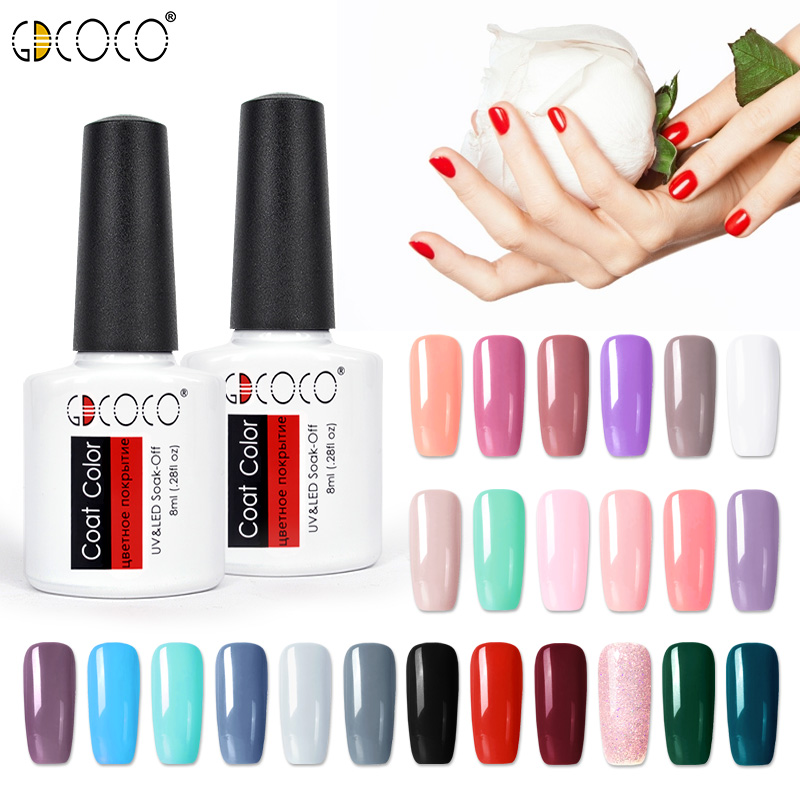 GDCOCO Nail Polish Nail Art Design Gel Varnish 8ml Neon Color Shiny Soak Off Polish Gel Manicure Nail Supply Wholesale