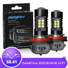 2Pcs H8 H11 Led HB4 9006 HB3 9005 Fog Lights Bulb 3030SMD 1200LM 6000K White Car Driving Running Lamp Auto Leds Light 12V 24V(China)
