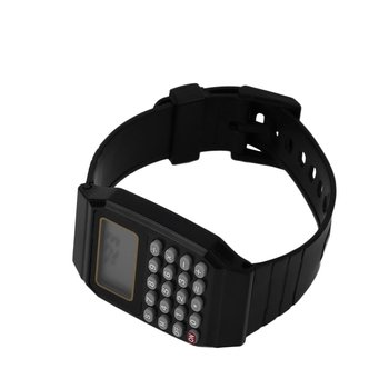 Practical Children Student Calculator Digital Sports Watch Solid Color Silicone Comfortable Wear Wrist For Kids